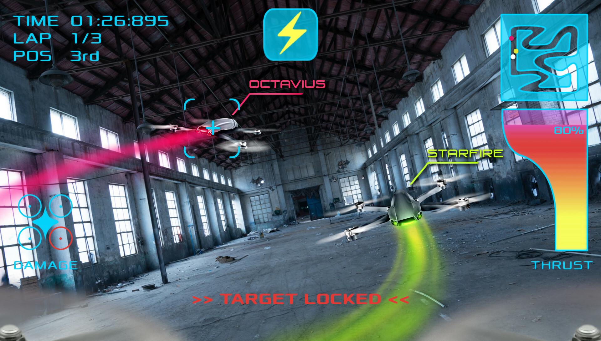 Drone interactive fpvcollision